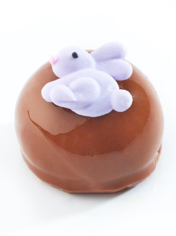 TRUFA de chocolate margo o de leche con figura de Fondant
